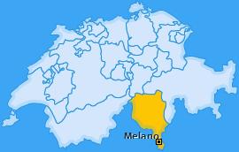 Karte von Melano