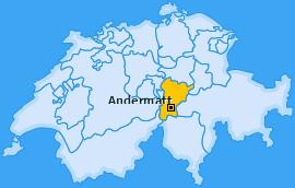 Karte von Andermatt