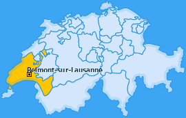 Karte von Belmont-sur-Lausanne