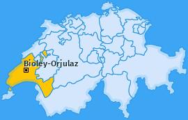 Karte von Bioley-Orjulaz