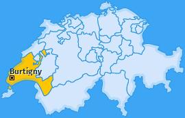 Karte von Burtigny