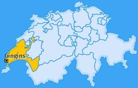Karte von Gingins