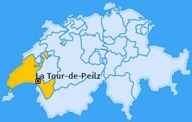 Karte von La Tour-de-Peilz