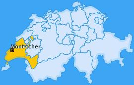 Karte von Montricher