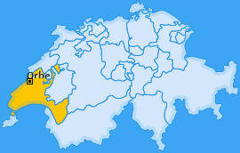 Karte von Orbe