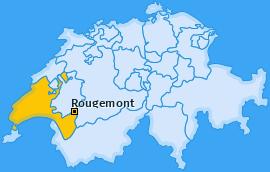 Karte von Rougemont