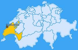 Karte von Vallorbe