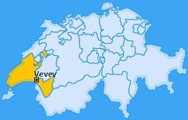 Karte von Vevey