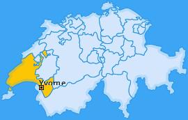 Karte von Yvorne