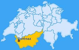 Karte von Dorénaz