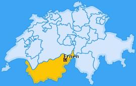 Karte von Ernen