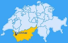 Karte von Evionnaz
