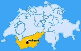 Karte von Evolène