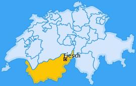 Karte von Fiesch