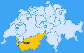 Karte von Finhaut