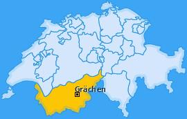 Karte von Grächen