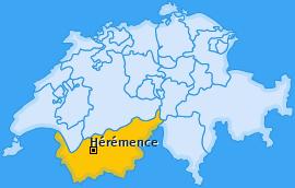 Karte von Hérémence