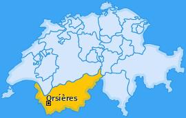 Karte von Orsières