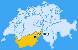 Karte von Ried-Brig