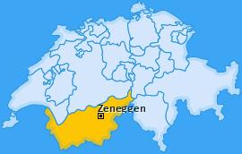 Karte von Zeneggen