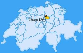 Karte von Cham (ZG)