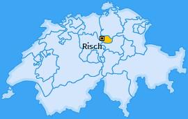 Karte Holzhäusern Risch