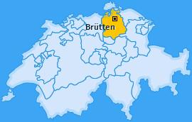 Karte von Brütten