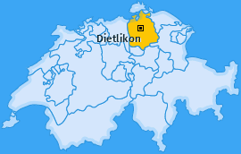 Karte von Dietlikon