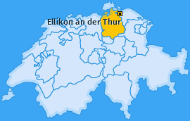 Karte von Ellikon an der Thur