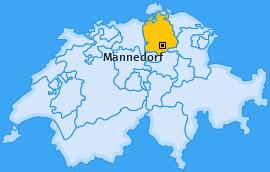 Karte von Männedorf