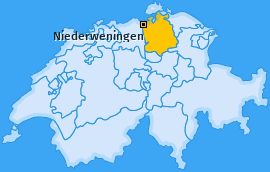 Karte von Niederweningen