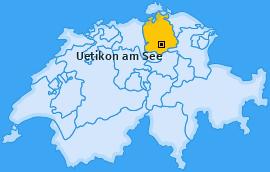 Karte von Uetikon am See