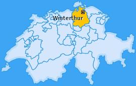 Karte Reutlingen Winterthur