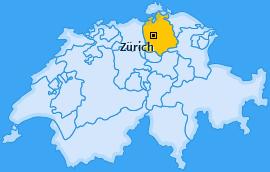 Karte Hirzenbach Zürich