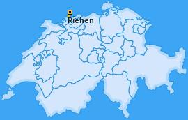Karte von Riehen