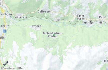 Stadtplan Tschiertschen-Praden