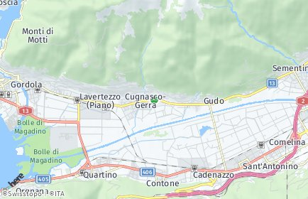 Stadtplan Cugnasco-Gerra