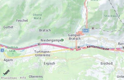 Stadtplan Gampel-Bratsch