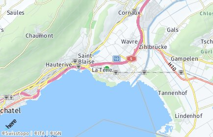 Stadtplan La Tène