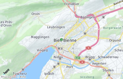 Stadtplan Biel/Bienne