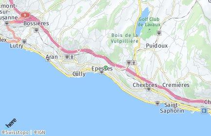 Stadtplan Bourg-en-Lavaux