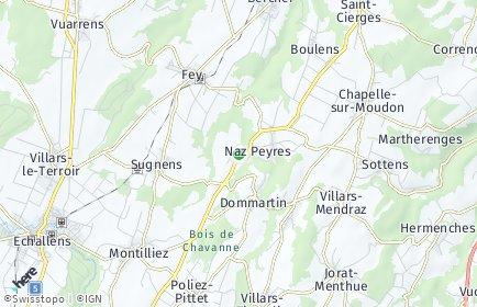 Stadtplan Montilliez