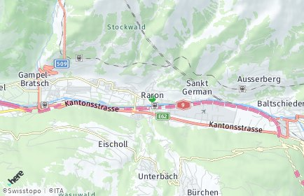 Stadtplan Westlich Raron