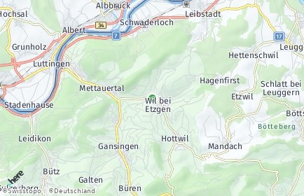 Stadtplan Mettauertal OT Oberhofen