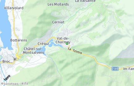 Stadtplan Val-de-Charmey