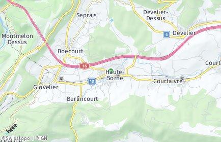 Stadtplan Haute-Sorne