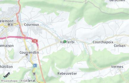 Stadtplan Val Terbi