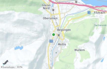 Stadtplan Glarus Nord OT Oberurnen
