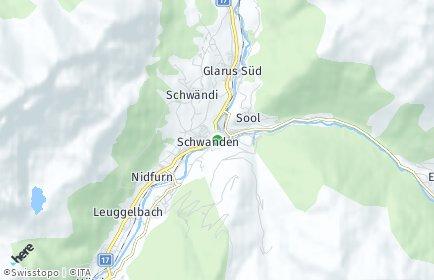 Stadtplan Glarus Süd OT Engi