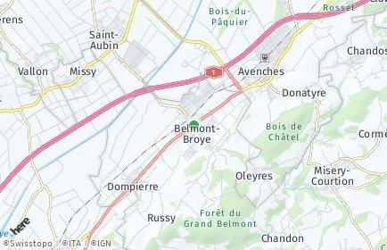 Stadtplan Belmont-Broye